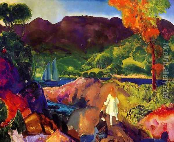 Romance Of Autumn Oil Painting - George Wesley Bellows