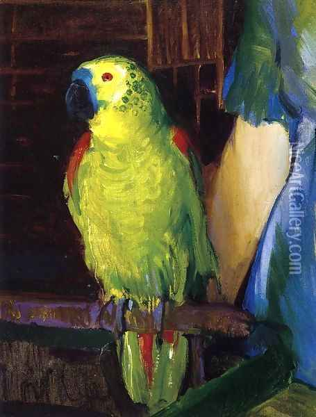 Parrot Oil Painting - George Wesley Bellows