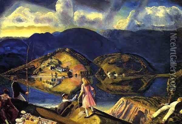 The Picnic Oil Painting - George Wesley Bellows
