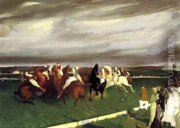 Polo At Lakewood Oil Painting - George Wesley Bellows