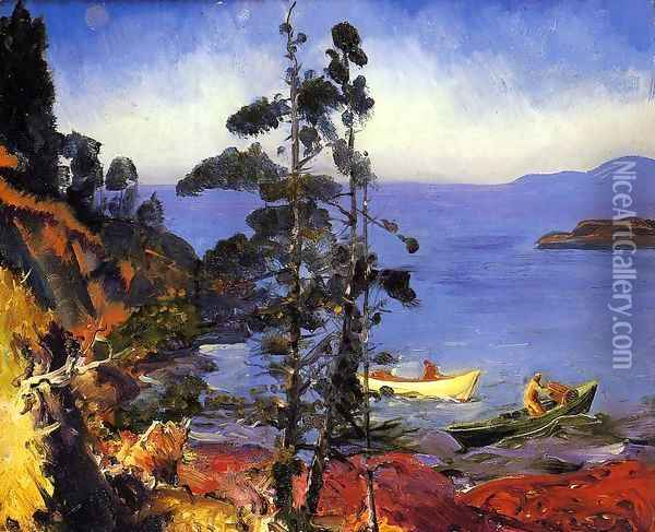 Evening Blue Oil Painting - George Wesley Bellows