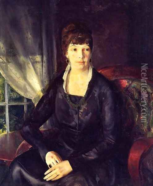 Emma At The Window Oil Painting - George Wesley Bellows
