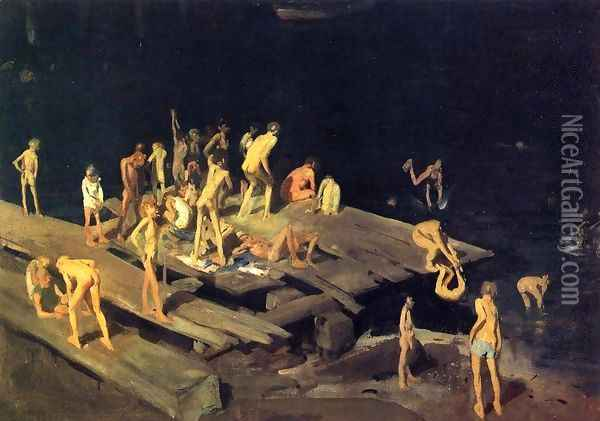 Forty Two Kids Oil Painting - George Wesley Bellows