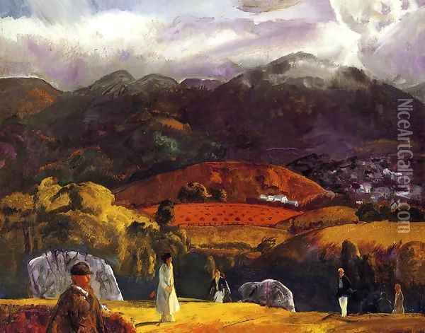 Golf Course California Oil Painting - George Wesley Bellows