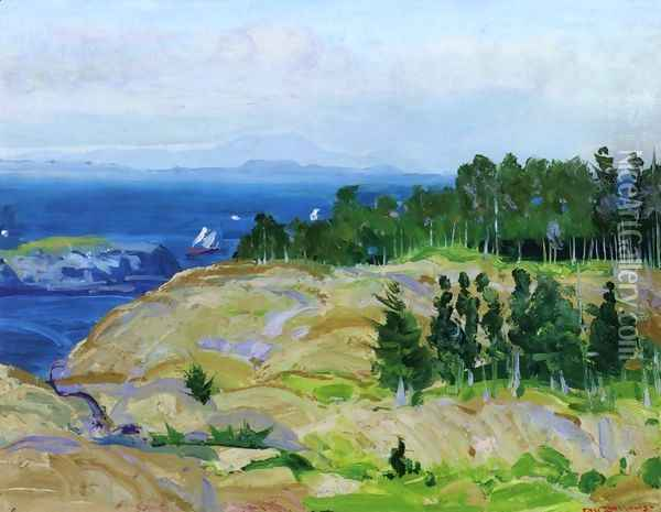 Green Point Oil Painting - George Wesley Bellows