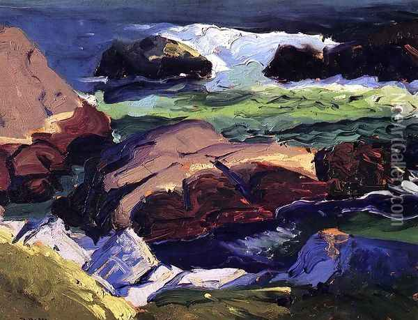 Sun Glow Oil Painting - George Wesley Bellows