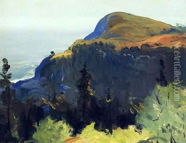 Hill And Valley Oil Painting - George Wesley Bellows