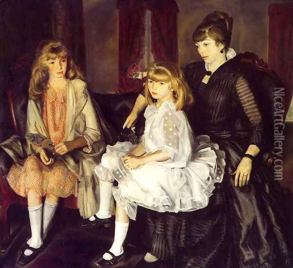 Emma And Her Children Oil Painting - George Wesley Bellows