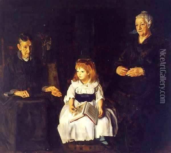 Elinor Jean And Anna Oil Painting - George Wesley Bellows
