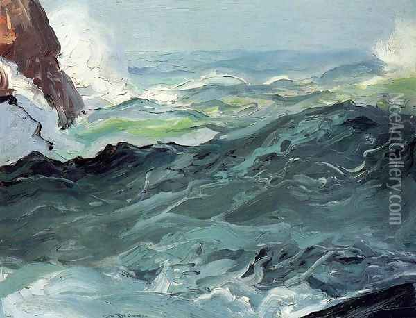 Wave Oil Painting - George Wesley Bellows