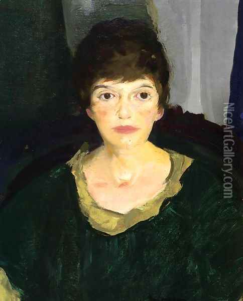 Portrait Of Emme In Night Light Oil Painting - George Wesley Bellows
