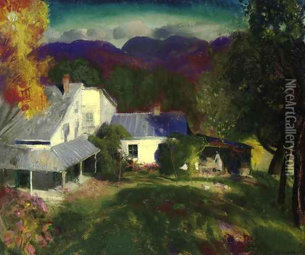 Mountain House Oil Painting - George Wesley Bellows