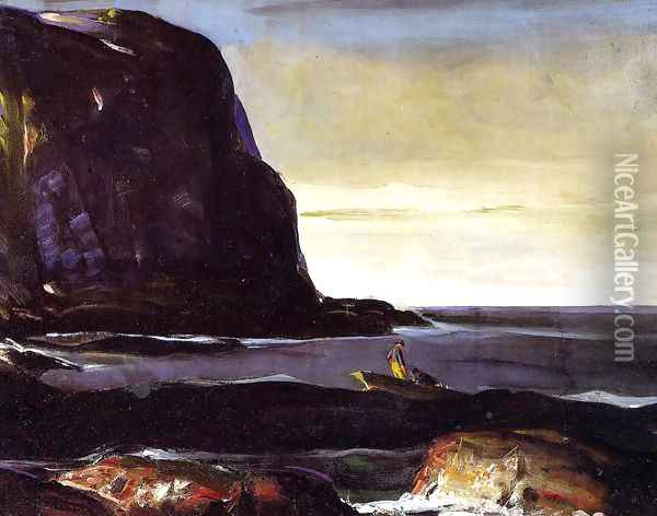 Evening Swell Oil Painting - George Wesley Bellows