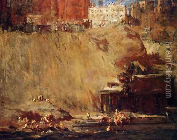 River Rats Oil Painting - George Wesley Bellows