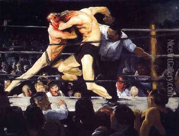 Stag Night At Sharkeys Oil Painting - George Wesley Bellows