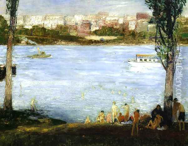 Summer City Oil Painting - George Wesley Bellows