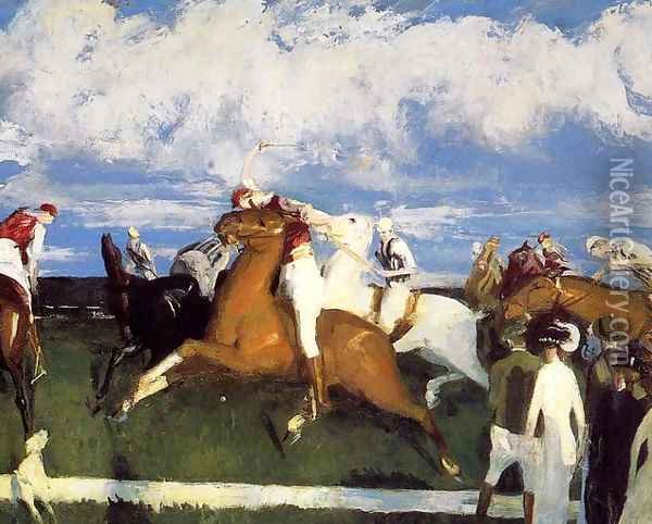 Polo Game Oil Painting - George Wesley Bellows
