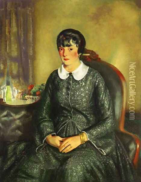 Portrait Of Mary McKinnon Oil Painting - George Wesley Bellows