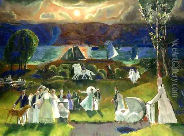 Summer Fantasy Oil Painting - George Wesley Bellows