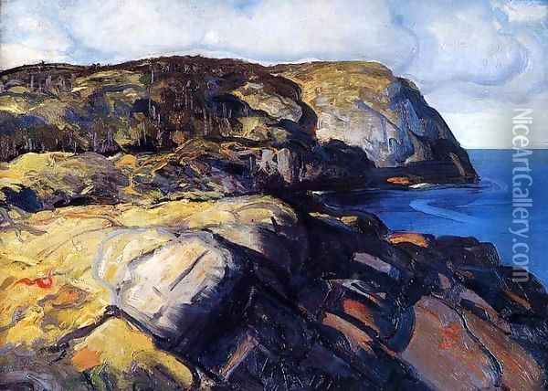 Shaghead Oil Painting - George Wesley Bellows