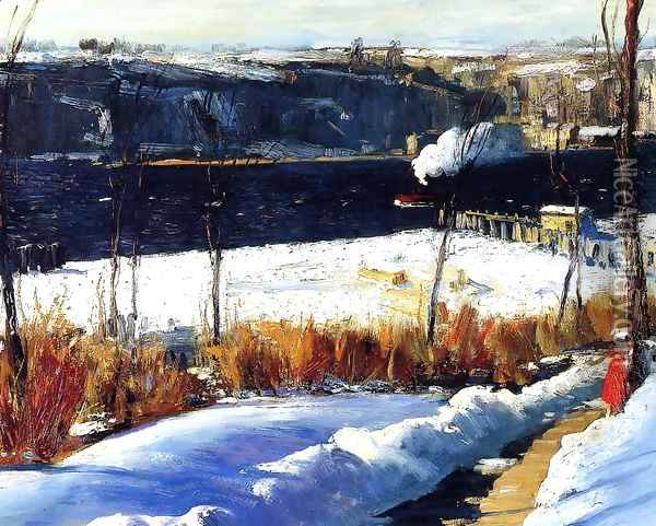 Winter Afternoon Oil Painting - George Wesley Bellows