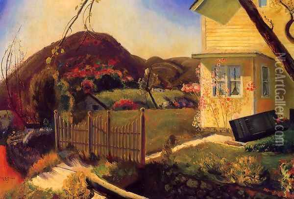 The Picket Fence Oil Painting - George Wesley Bellows