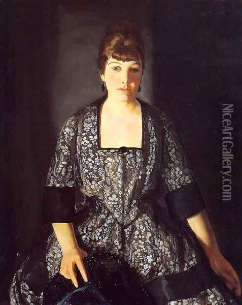 Emma In The Black Print Oil Painting - George Wesley Bellows