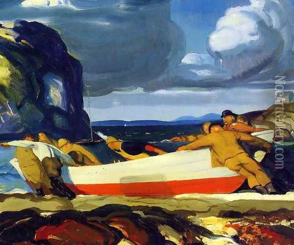 The Big Dory Oil Painting - George Wesley Bellows