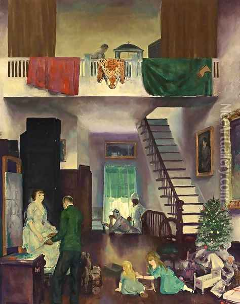The Studio Oil Painting - George Wesley Bellows