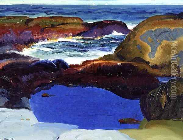 The Blue Pool Oil Painting - George Wesley Bellows