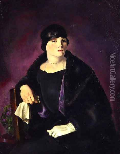 Mrs Richter Oil Painting - George Wesley Bellows