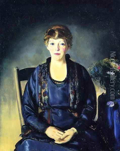 Portrait Of Laura Oil Painting - George Wesley Bellows