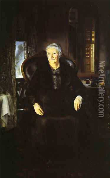 Portrait Of My Mother Oil Painting - George Wesley Bellows