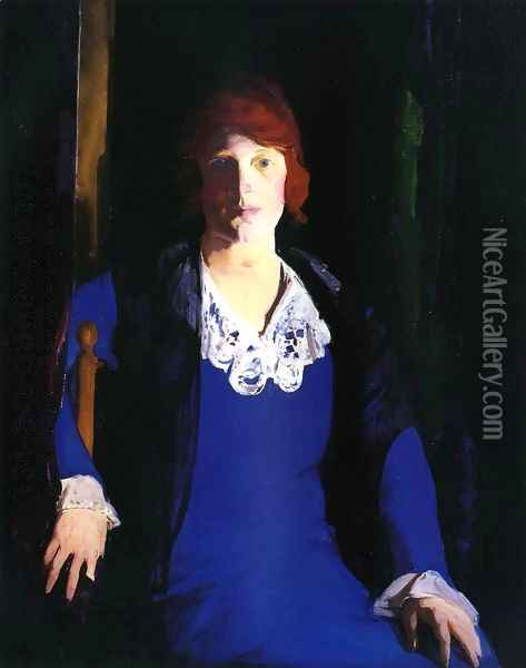 Portrait Of Florence Pierce Oil Painting - George Wesley Bellows