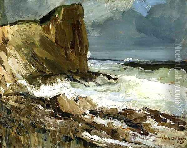 Gull Rock And Whitehead Oil Painting - George Wesley Bellows