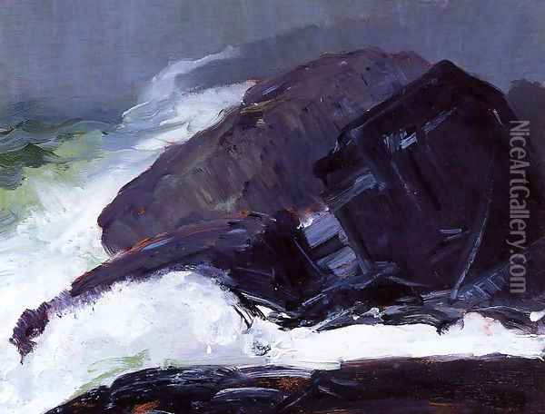 Tang Of The Sea Oil Painting - George Wesley Bellows