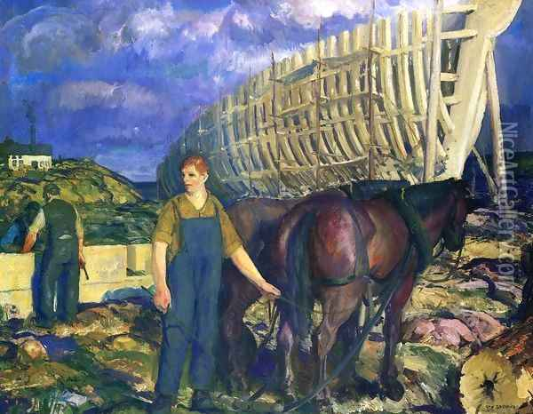 The Teamster2 Oil Painting - George Wesley Bellows