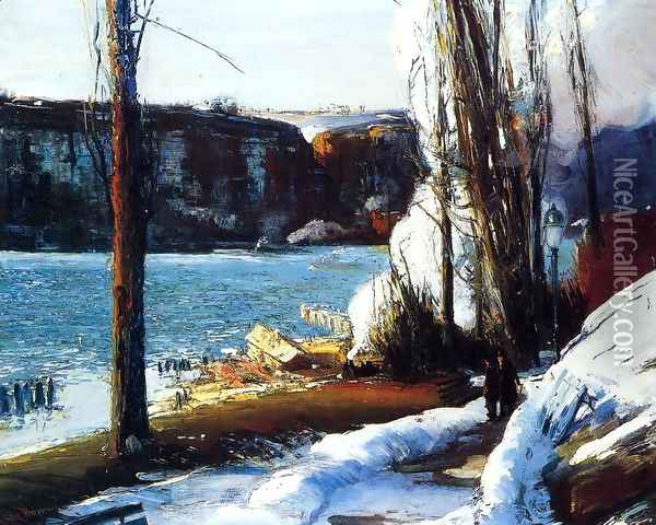 The Palisades Oil Painting - George Wesley Bellows
