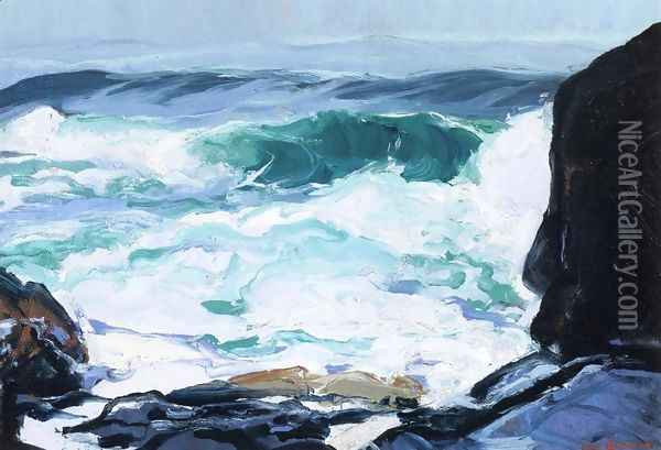 Tide Ledge Oil Painting - George Wesley Bellows