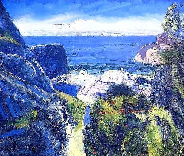 Paradise Point Oil Painting - George Wesley Bellows