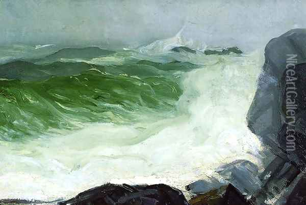 The Grey Sea Oil Painting - George Wesley Bellows