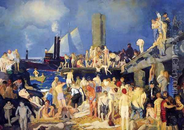Riverfront No 1 Oil Painting - George Wesley Bellows