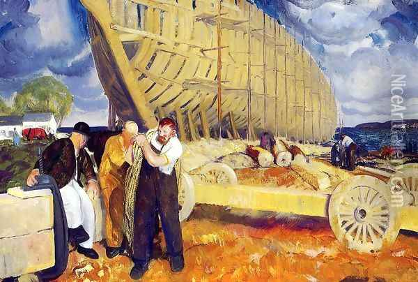 The Rope Aka Builders Of Ships Oil Painting - George Wesley Bellows