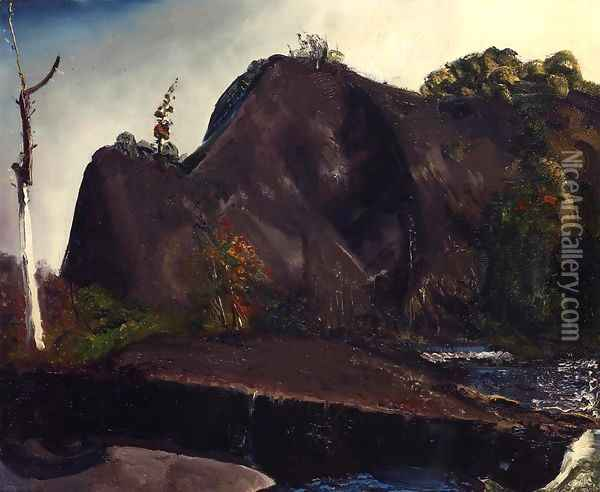 Old Canal Eddyville Oil Painting - George Wesley Bellows