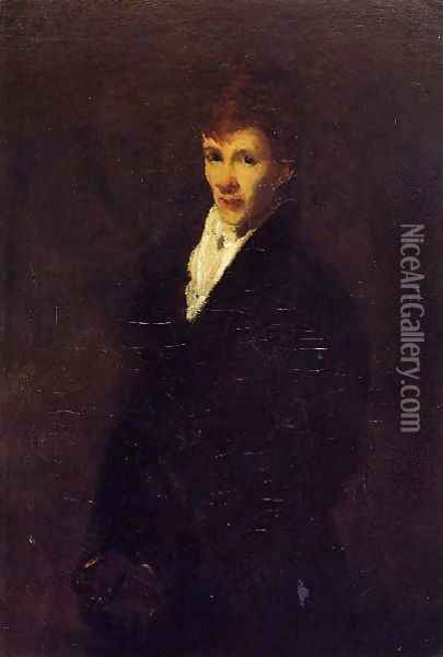Robin Aka Portrait Of Clifton Webb Oil Painting - George Wesley Bellows