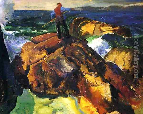 The Fisherman (study) Oil Painting - George Wesley Bellows