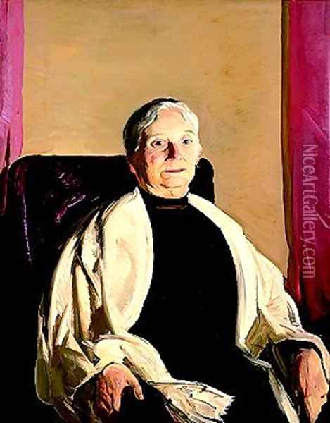 A Grandmother Oil Painting - George Wesley Bellows