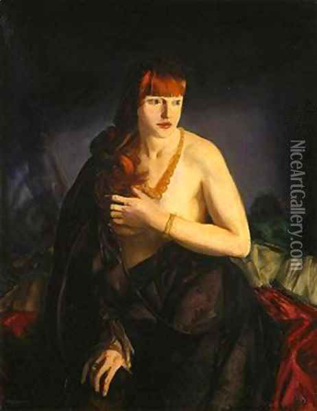 Nude with Red Hair Oil Painting - George Wesley Bellows