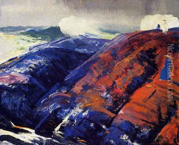 Summer Surf 2 Oil Painting - George Wesley Bellows