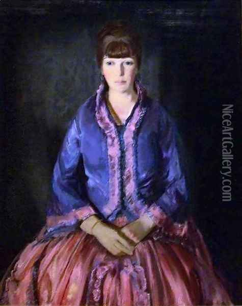 Emma in the Purple Dress Oil Painting - George Wesley Bellows